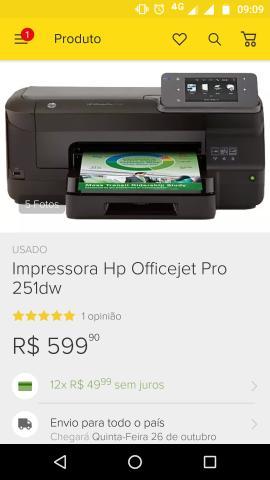 Impressora HP Officejet Pro 251DW