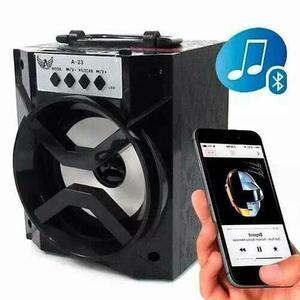 Caixa De Som Via Bluetooth Amplificadora Radio Fm