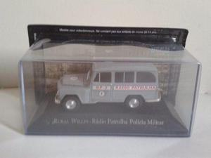Miniatura Rural Willys Radio Patrulha SP Veículos de