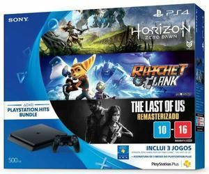PS4 SLIM 500GB + 3 Jogos Mídia Física Promoção !