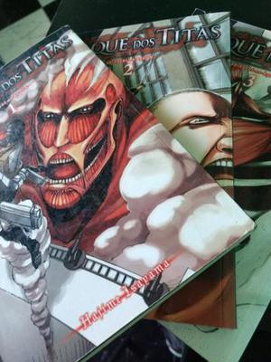 Ataque dos titans, Shingeki no kyojin 1 2 e 3