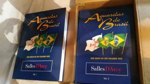 """Livros """"Aquarelas do Brasil"""" vol. 1 e 2"""