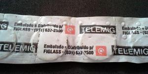 Ficha orelhão da Telemig cartela com 10