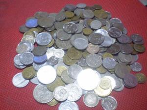 Grande lote de moedas variadas
