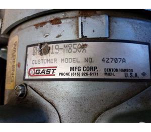 Compressor Tufao Gast 04 Pistoes 2 Cv Monofasico