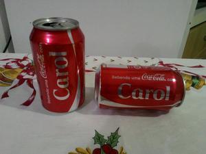 Latas de Coca Cola, nome: Carol