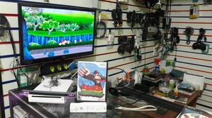 Nintendo wii desbloqueado + controles + jogos em otimo