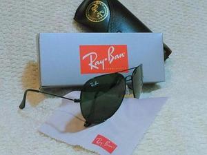 Óculos de sol Aviador preto com lentes de vidro UV400