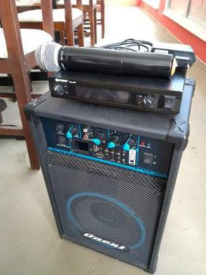 Caixa de som Oneal com microfone sem fio