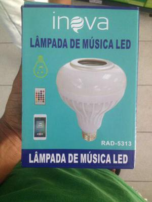 Lampada de led musical