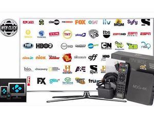 Transforme TV em Smart TV, Box configurado com Canais e