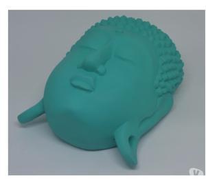 Buda peça de parede em gesso para decoração