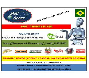 Miniatura 1:64 Thomas Flyer  Calhambeque Readers Digest