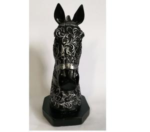 Busto de cavalo em gesso para decoração