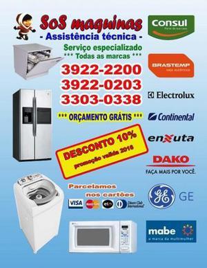 SoS maquinas assistência técnica Lava Roupas Geladeira