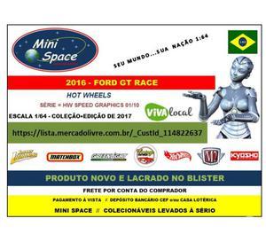 Miniatura 1:64 Ford GT Race  da Hot Wheels
