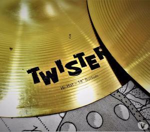 Pratos de Bateria Orion Twister Hi-Hat 14″ Top e Bottom