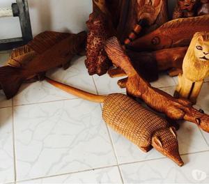 Lote de esculturas em madeira artista Manoel da marinheira f