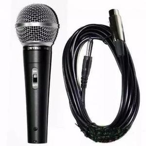 Microfone Profissional Com Cabo Sm 58 Igreja Novo a Pronta