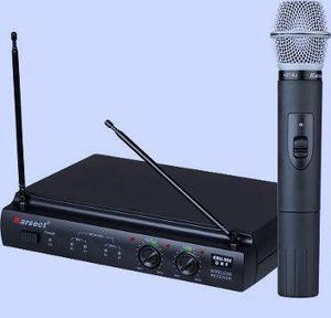Microfone Sem Fio Karsect Kru 302 Uhf + Maleta + Fonte +