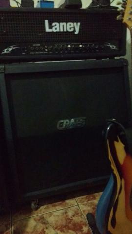Cabeçote Laney LX 120 + Caixa 4x12 Crate
