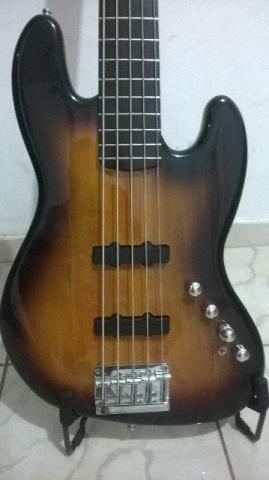 Contrabaixo Squier by Fender Deluxe Jazz Bass 5C Sunburst