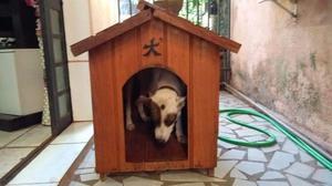 Casinha de Madeira para Cachorro