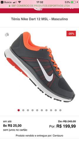 Tênis Nike Dart 12 MSL (NOVO)