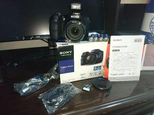 Câmera Digital Sony Dsc-h100 Preta C/ 16.1mp + Brinde Bolsa