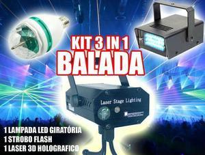 Kit festa 3in1 laser/strobo/bola maluca. PROMOÇÃO