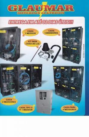 3d2fbbcff5a Caixa de luz 4 relogios padrão eletropaulo completa e kit
