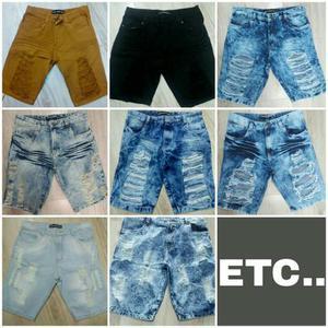 Bermudas Jeans Rasgada etc MASCULINO