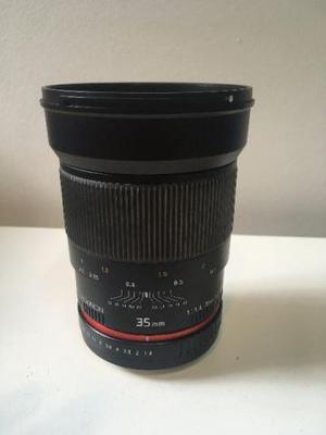 Lente Rokinon 35mm f/1.4 para Canon EF