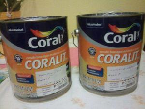 Lata de tinta coral