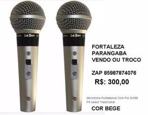 2 Microfones Profissional Lesson Tradicional seminovos