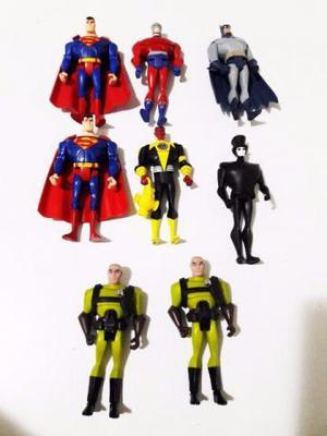 8 Figuras Justice League Unlimited Liga da Justiça Superman
