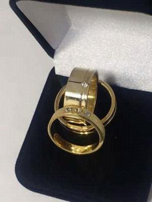 Aliancas feitas de moedas Antigas, para noivados e