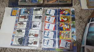 Coleção de cartões com  unidades de carão