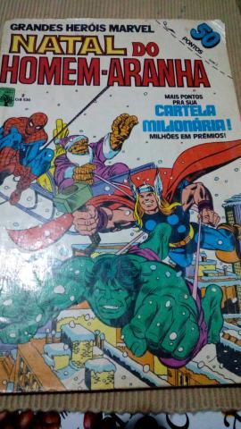 Lote de gibis Grandes Heróis Marvel - Formatinho Ed Abril
