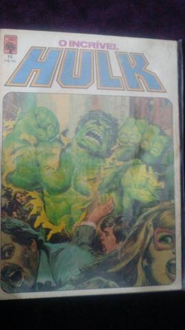 Lote de gibis O Incrível Hulk - Formatinho Ed.Abril