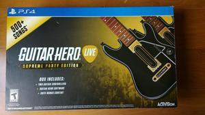 Guitar Hero Com 2 Guitarras Live Supreme Party Edition PS4
