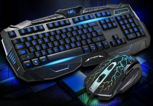 Kit Teclado + Mouse Gamer Iluminado Led Multimídia Usb