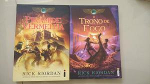 Livros - A Pirâmide Vermelha e O Trono de Fogo