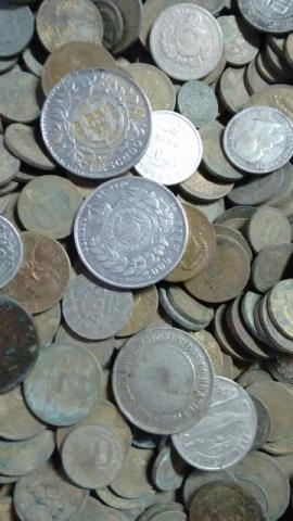 Moedas antigas epoca dos reis total..prata.bronze