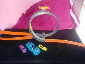 Pista Hot Wheels 100 cm + Carrinho