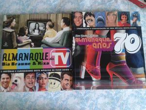 2 livros Almanaque dos anos 70 e da TV - Otimo estado