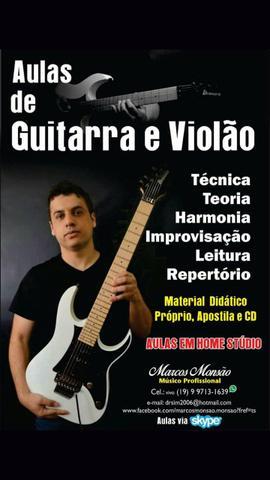 Aulas de violão, guitarra e baixo em Indaiatuba