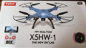 Drone syma x5hw com altitude hold camera fpv hd e 3 baterias