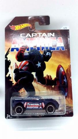 Hot wheels star versão capitão america