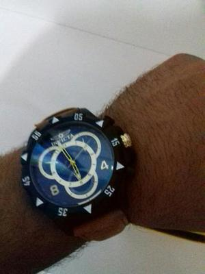 Relógio Invicta na Caixa Pulseira de Couro